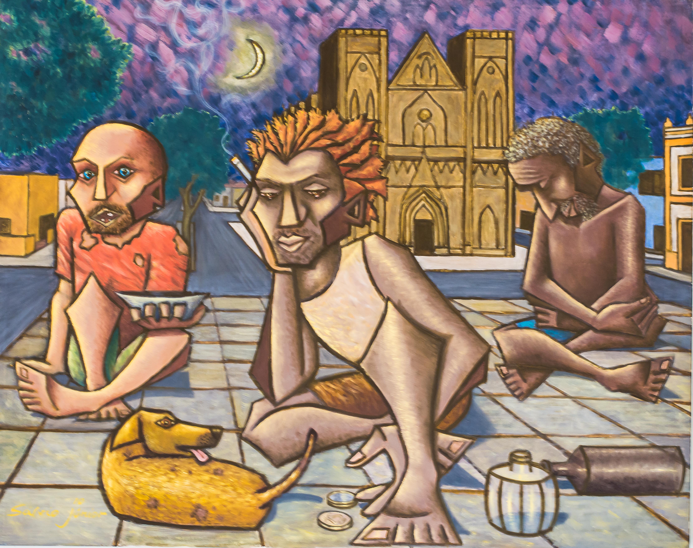 Pintura de Sálvio Junior - Foto :Reinaldo Marchesi